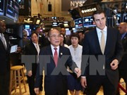 Top legislator visits New York Stock Exchange
