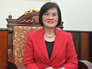 Deputy PM Minh's spouse receives ambassadors' to China