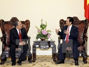 Prime Minister greets Myanmar's central bank governor
