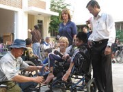 Wheelchairs given to the disabled in Lam Dong