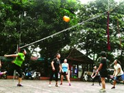 Soft volleyball keeps older generation active