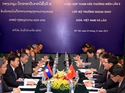 Vietnamese, Lao foreign ministers chair second consultation