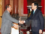 President Truong Tan Sang welcomes Lao Justice Minister
