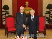 Party leader welcomes Italian President