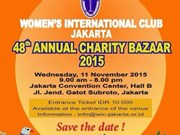 Jakarta bazaar raises money for charity