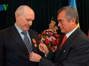 Ukrainian citizen honoured with friendship insignia