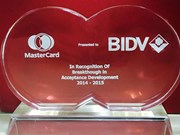 BIDV wins international recognition for card services