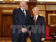 Party leader greets visiting Belarusian President