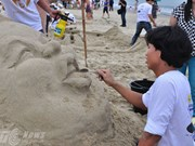 Foreign artists show off sand sculpture in Phan Thiet
