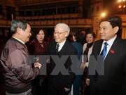 Leaders meet Hanoi NA deputies of different generations