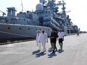 Russia's naval ships visit Da Nang city