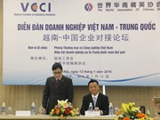 Vietnam-China business forum takes place in Hanoi