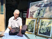 Artist known for aluminium chiselled paintings