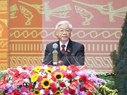 Party chief receives more congratulations over re-election