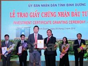 Approx. 700 mln USD in FDI lands in Binh Duong in first two months