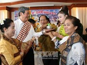 High-ranking delegation visits Laos on Bunpimay New Year