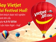 Vietjet offers passengers hot-air balloon service in Hue