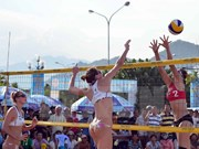 Beach volleyball tourney gets underway in Can Tho