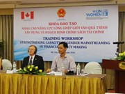 Workshop promotes women capacity in financial policy making
