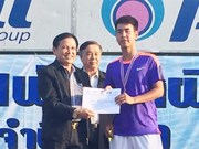 Tien wins gold in Thailand Tennis Open