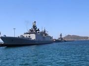 Indian naval ships make port call at Cam Ranh International port