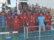 Vietnam win bronze at U14 football event