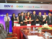BIDV signs secondary loan contract with four banks