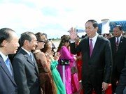 Vietnamese leader visits Champasak province of Laos