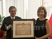 Friendship order medal presented to American Commerce Chamber Governor