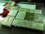 Anti-drug forces arrest two Lao traffickers, seize 11kg of heroin