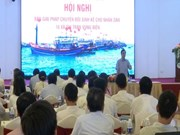 Quang Tri helps affected fishermen earn living