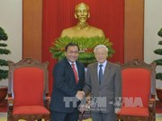 Party chief bids farewell to Cambodian ambassador