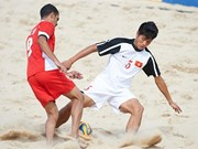 Beach footballers train, compete for Asian Games