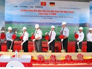 Construction of wind power plant commences in Ninh Thuan