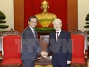 Party leader appreciates outgoing Japanese ambassador's contributions