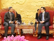 Party external relations official hosts Singaporean Foreign Minister