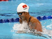 Swimmer pockets historic medal at Moscow competition