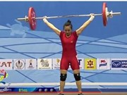 Thuy wins bronze at Asian Weightlifting Championships
