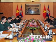 Vietnam, Cambodia's military officials discuss cooperation