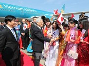 Party General Secretary Nguyen Phu Trong arrives in Tokyo