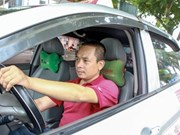 Taxi drivers tune to interactive radio