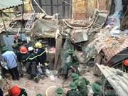 Hanoi aids villa collapse victims to restore activities