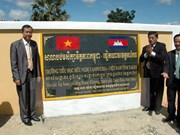 Vietnamese province helps Cambodia build school