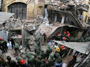 Ancient French villa in Hanoi collapses