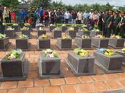 Binh Dinh keen to reinter remains of fallen soldiers