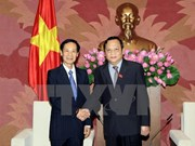 National Assembly Vice Chairman greets Lao legislator