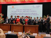 Investment Agreement for Nam Dinh 1 thermal power plant project signed