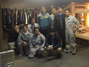 Workers in Japan's factory satisfied with working, living conditions