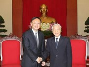 Party chief welcomes Chinese guest