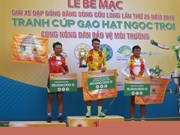 Tam wins Mekong Delta cycling tournament